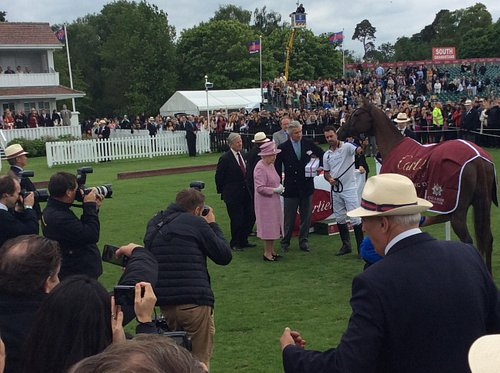 HRH Queen Elizabeth II presents the price for the best horse, the player is Facundo Pieres, Worl
