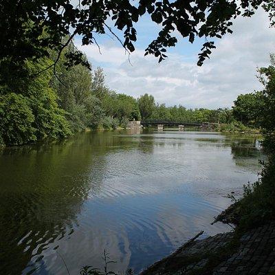 View of a bridge.