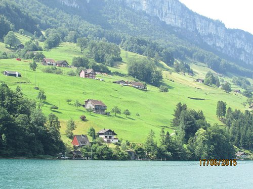 The Glimpse of Lake Lucerne and Swiss Alps comes together