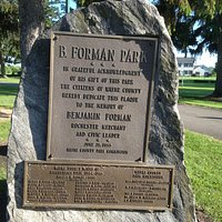 B. Foreman Park - dedication plaque
