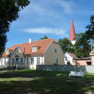 Nowadays this is called Haapsalu Raekoda (Haapsalu Town Hall) nearby the St.John´s Lutheral Chu