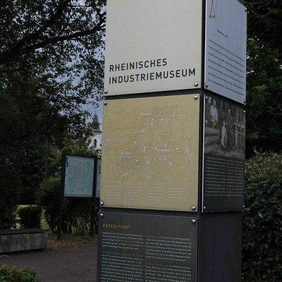 Hinweisschild LVR Industriemuseum Solingen
