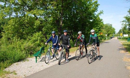 Bike Riders on Falling Waters Trail