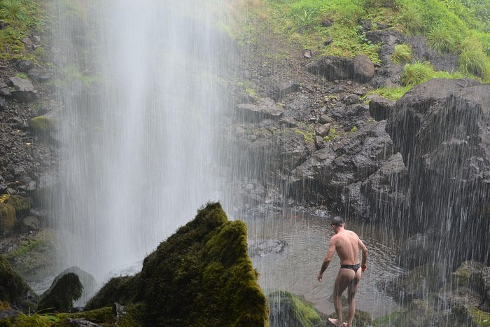 My shower under waterfall