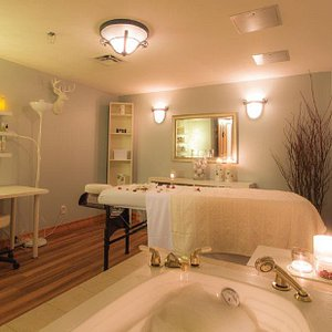 Treat yourself to a massage and an epsom salt soak in our deep jetted bathtubs