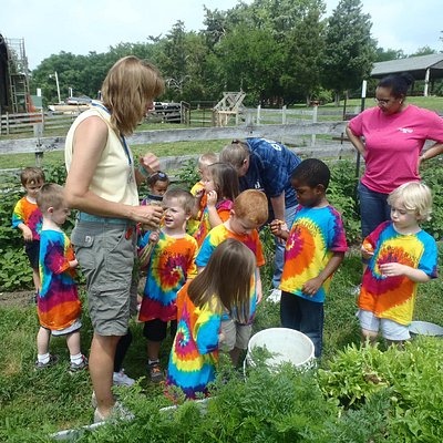 Touring the vegetable beds at Learning Tree Farm