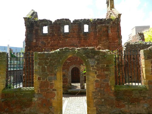 View of the ruins