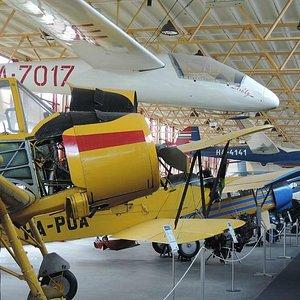 Vintage plane line-up