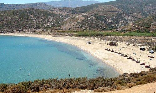 Παραλία Ατένι - Άνδρος.