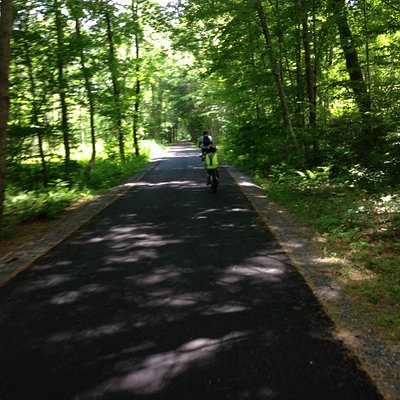Beautiful paved bike trail!