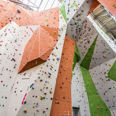 European Style Comp Wall with 20m Climbing Length