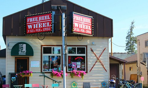 A street view of the front of the shop.