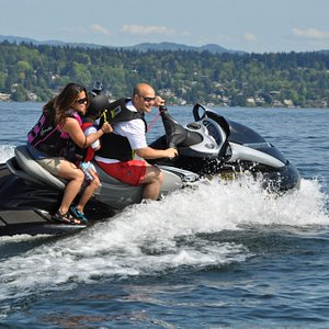 The Jet Ski Rentals form Bounce Water Sports are ideal for a family advanture.