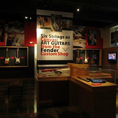 Recent exhibit in the Leo Fender Gallery