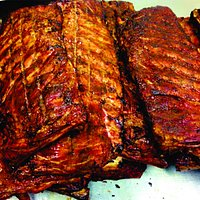 Real Pit Smoked BBQ Ribs! Only at Better Than Fred's!