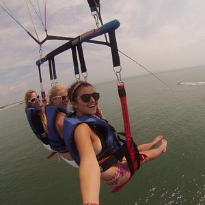 This was an amazing time. If you have never been parasailing, there is nothing to fear. Go there