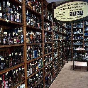 Gran colección de tequilas