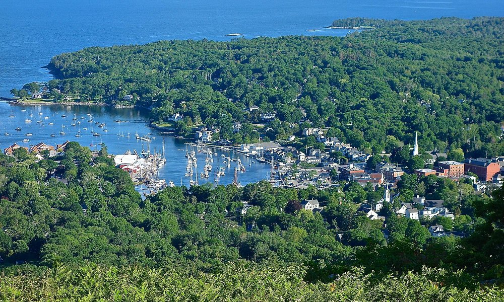 View of Camden Harbor from Mt. Battle