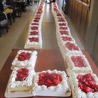 Longest Strawberry Short Cake