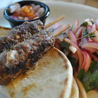 Herbed beef kabobs lunch special
