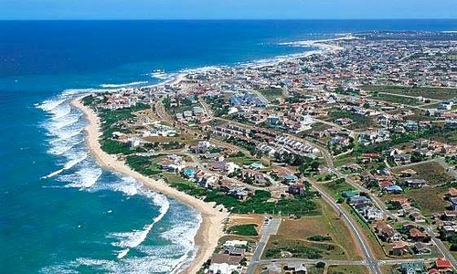 Jeffreysbay arial photo showing about one third of the town