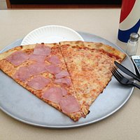 two slices and a drink lunch...huge slices