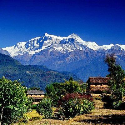 Breathtaking scenery of Nagarkot, Nepal