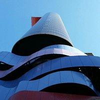 Detalhe do prédio do Instituto Tomie Ohtake