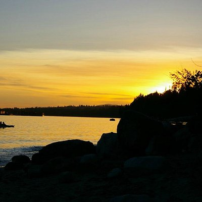 Cates Park at sunset