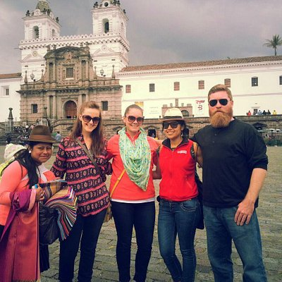 Happy group with one of our guides