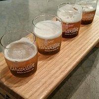 Braxton Brewing Company flight