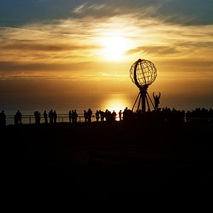 Midnight Sun at the North Cape