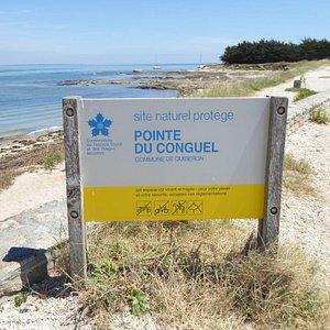 Pointé du Conguel Quiberon Signage
