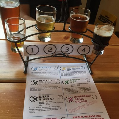 Flight at Old Ox Brewwey