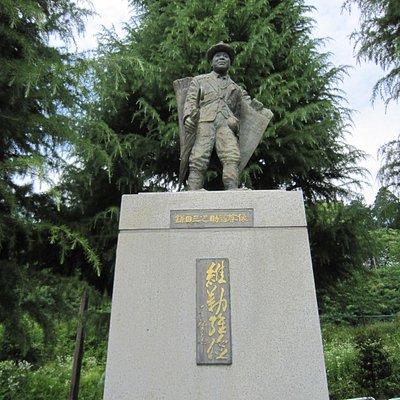 鎌田三之助翁尊像