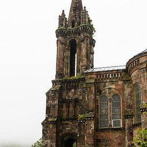 The Gothic church Ermida de Nossa Senhora das Vitórias at Mata Jardim José do Canto