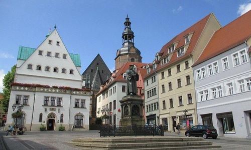 Luther's Memorial in front of Eisleben Town Hall