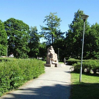 Jakob Hurt - in park beside Vaike Vanemuine Theatre
