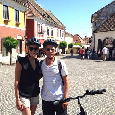 We took the bike trip to Szentendre near Budapest. It's a city known for local artists. Great tr