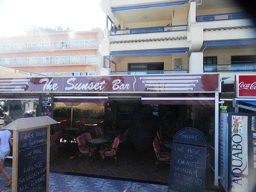 Entrance to Sunset Bar