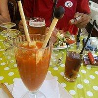 Gaspacho de tomates et sa glace