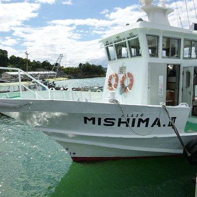 五十人くらい乗れる日生諸島定期便(大生汽船)