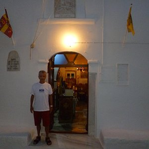 """At the """"Church of Saint George"""" in Mykonos Town"""
