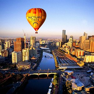 Melbourne Sunrise from our hot air balloon