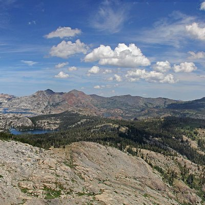 Looking North and West - Desolation Wilderness, Lake Aloha and Lake Tahoe