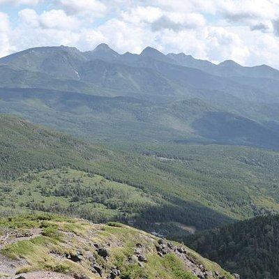 北横岳山頂から見た八ヶ岳