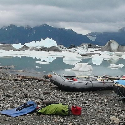 Rafting amongst the icebergs at Alsek Lake was one of the highlights of the trip.