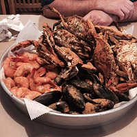 All you can eat seafood order at Fiffers.