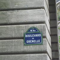 You always know where you are in Paris; the road signage is very clear