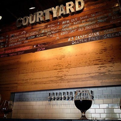 Constantly rotating draught list of in-house and specialty brews